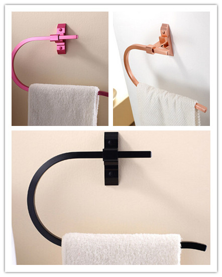 3 Colors To Choose Brushed Space Aluminum Fashion Bathroom Towel Ring Hot Sale TC0896