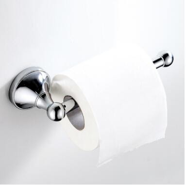 Simple Style Brass Bright Chrome FInished Bathroom Accessory Toilet Roll Holder TCB026