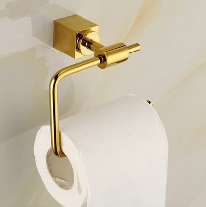 Antique Brass Golden Bathroom Accessory Toilet Roll Holder TCB0600