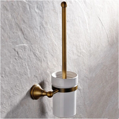 Antique Brass Wall-mounted Toilet Brush Holder TCB0790