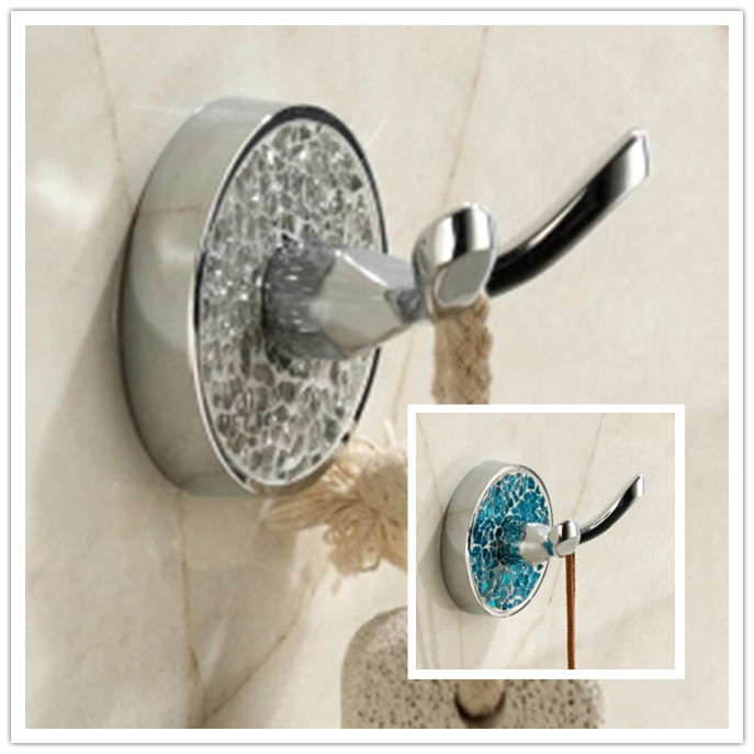 New 2 Colors Chrome Diamond Bathroom Accessory Robe Hook TCB25H