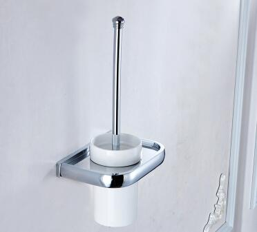 Modern Design Wall Mount Toilet Brush Holder With Shelf TCB7404