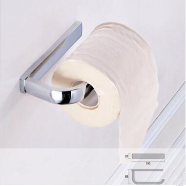 Chrome Finished Brass Toilet Roll Holder Paper Rack TCB7412
