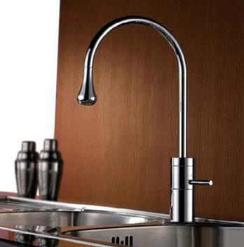 Fashion New Raindrop Outlet Mixer Kitchen Single Rocker Handle Basin Tap TD0922