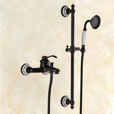 New Design Black Bronze Brass Mixer Rainfall Shower Tap TFB429