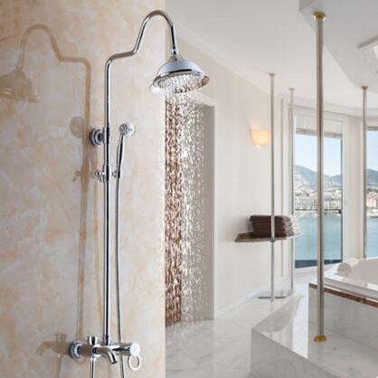 New Bright Chrome Finished Brass Rainfall Shower Tap TFB499