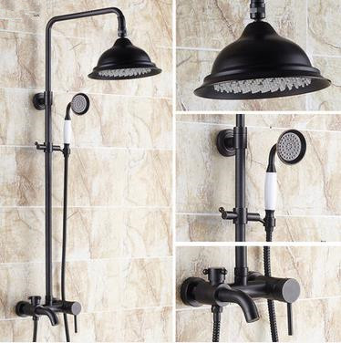New Design Black Bronze Brass Mixer Rainfall Shower Tap TFB533