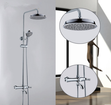 Chrome Finished Rainfall Shower Head Shower Bathroom Shower Sets TFC0550