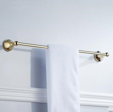 Antique Brass Ti-PVD Wall-mounted Single Towel Bar TGB1005