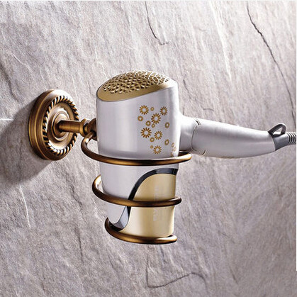 Antique Brass Bathroom Accessory Hair Dryer Holder THD069