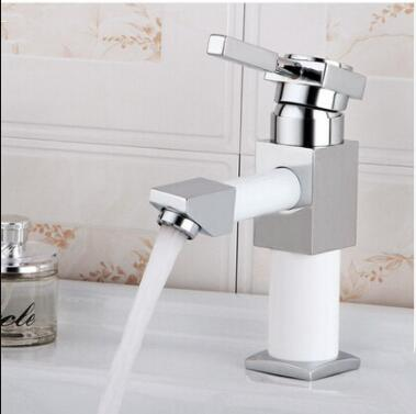 Robot Design Brass Bathroom Single Hole 360° Rotatable Outlet Mixer Water Sink Tap TR0107