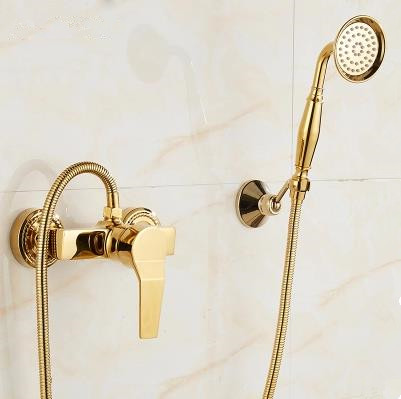 Golden Finish Mixer Water Bathroom&Hotel Simple Shower Set With Hand Shower TS0199G