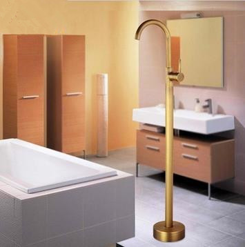 Antique Brass High Quality Free Standing Bathtub Tap TS0530