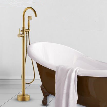 Antique Brass Free Shipping Bathtub Tap With Hand Shower TS0660