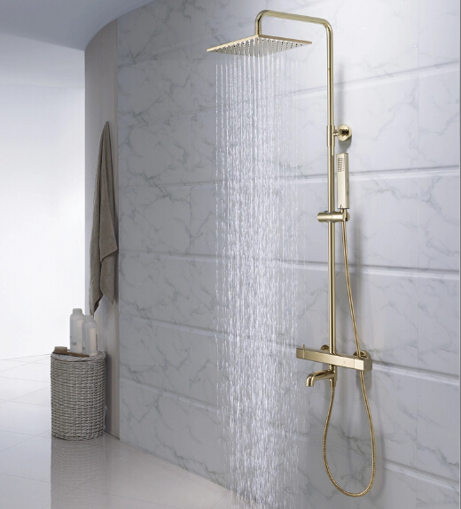 2015 Luxurious Designed Golden Thermostatic Shower Tap Set Exquisite Quality TS1799