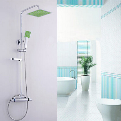 New Brass Thermostatic Shower Tap Free Lift With Soap Dish Bathroom Shower Set TS360