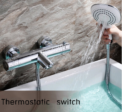 Brass Thermostatic Handle Shower Tap Sets Pressurized Mixer Shower Tap TS3880