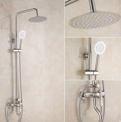 New Stainless Steel Nickel Brushed Wall Mounted Shower Tap Set TS519S