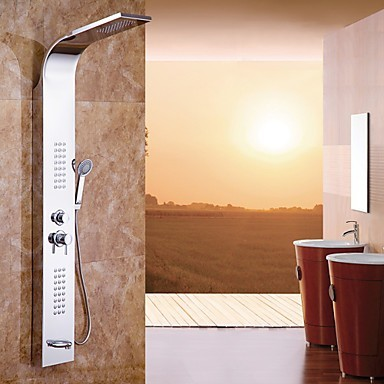 66 inch Contemporary Chrome Stainless Steel Shower Taps TSA300