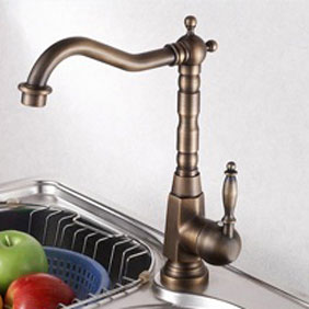 Centerset Antique Brass Kitchen Tap T0438