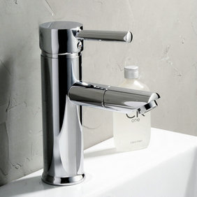 Chrome Finish 360° Rotatable Solid Brass Bathroom Sink Tap T0511