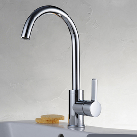 Chrome Finish Solid Brass Kitchen Tap T0717