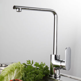 Chrome Single Handle Centerset Kitchen Tap T0750