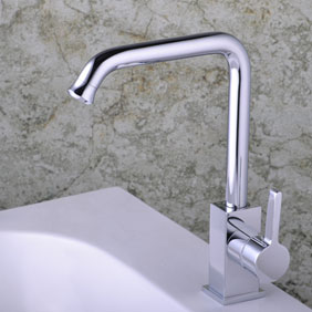 Single Handle Chrome Kitchen Tap (T0304)
